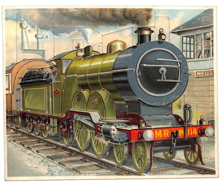 DIE EISENBAHN, locomotive, green train engine
