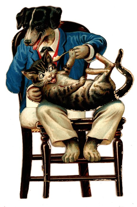 SHE WENT TO THE HATTER'S TO BUY HIM A HAT, AND WHEN SHE CAME BACK HE WAS FEEDING THE CAT