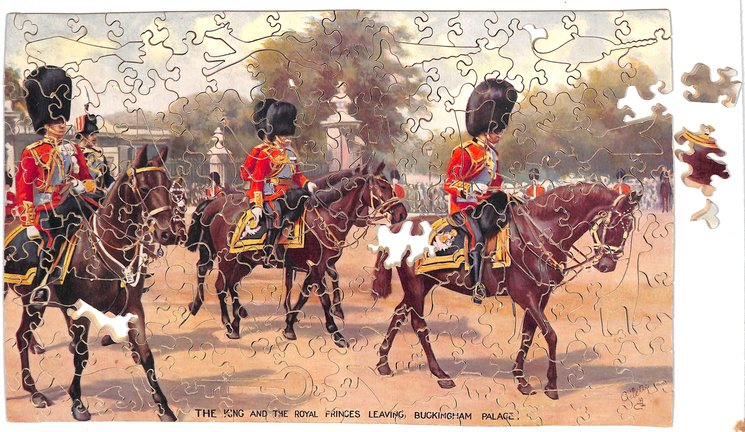 THE KING AND  THE ROYAL PRINCES LEAVING BUCKINGHAM PALACE