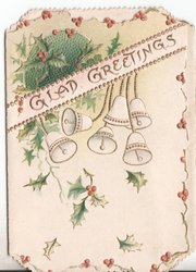 GLAD GREETINGS holly and bells