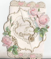 no front title, pink roses and gilt designs
