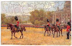 THE KING AND THE ROYAL PRINCES ARRIVING AT THE HORSE GUARDS PARADE