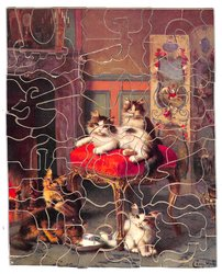 SPOILT BEAUTIES, five cats in plush surroundings
