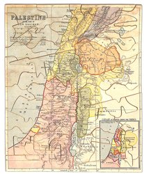 THE MAP OF PALESTINE, title on the puzzle is PALESTINE IN THE TIME OF OUR SAVIOUR.