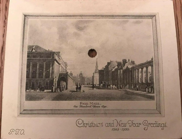 PALL MALL 100 YEARS AGO