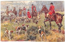 THE END OF THE RUN, huntsmen and hounds