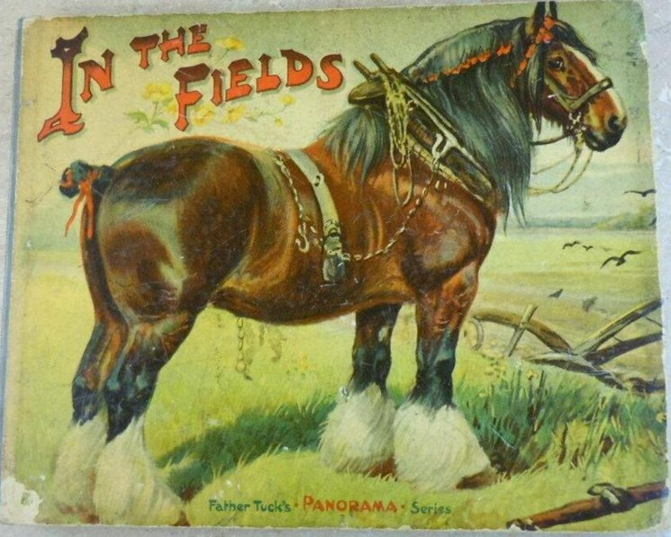IN THE FIELDS, workhorse in harness