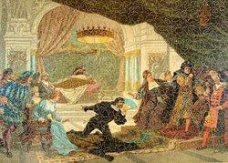 THE FAMOUS POISONING SCENE FROM HAMLET