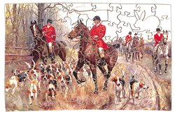 GOING TO COVER, huntsmen and hounds