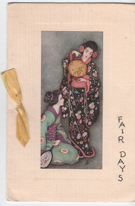 FAIR DAYS inset of two Japanese women holding lantern