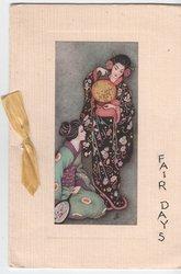 FAIR DAYS inset of two Japanese women holding lantern