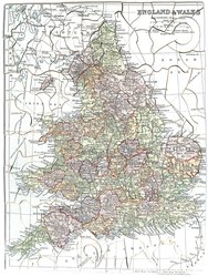 MAP OF ENGLAND & WALES (title on label), ENGLAND & WALES (title on puzzle)