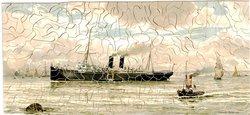 HOMEWARD BOUND, large ship entering harbour