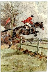 BOLD, CLEAN AND CLEVER, horse and rider jumping a fence