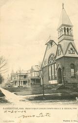 THIRD STREET LOOKING NORTH FROM U.B. CHURCH, 1906