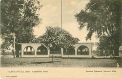 PASCAGOULA, MISS. ANDERSON PARK, large tree left, open fencing round field