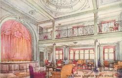 THE MAIN LOUNGE, WITH STAGE