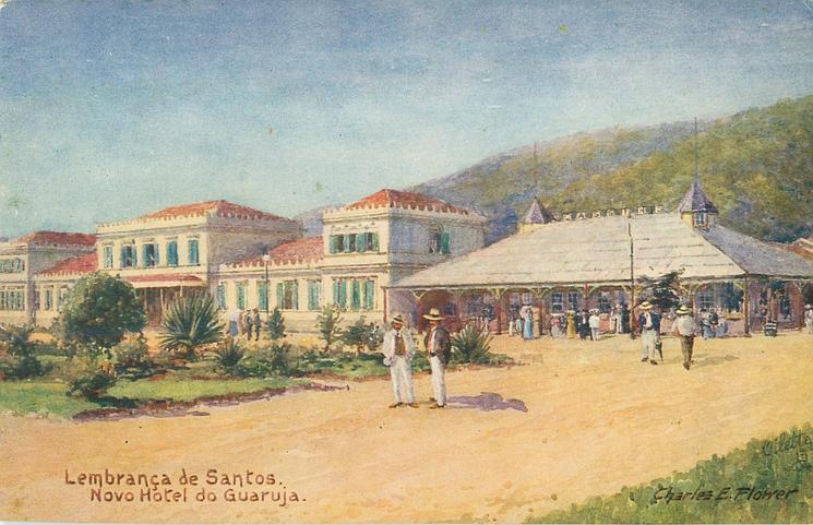 LEMBRANCA  DE SANTOS. NOVO HOTEL DO GUARUJA
