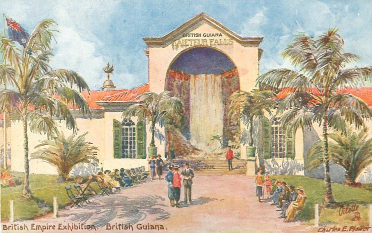 BRITISH GUIANA pavilion depicting KAIETEUR FALLS