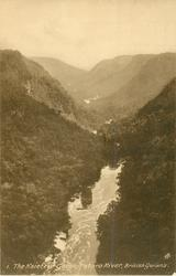THE KAIETEUR GORGE, POTARO RIVER  from top of fall