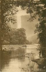THE FIRST GLIMPSE OF KAIETEUR FALL, POTARO RIVER
