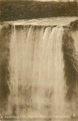KAIETEUR FALL, POTARO RIVER  brink of the fall, tiny figures right top