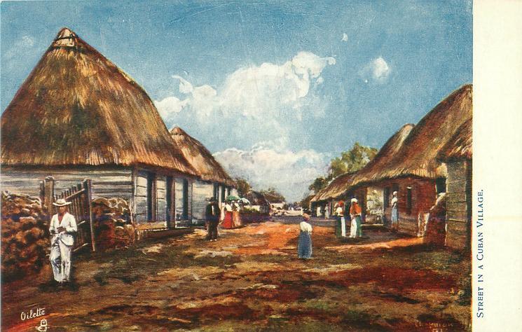 STREET IN A CUBAN VILLAGE