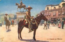 front UN CHARRO EN MEJICO  back A MEXICAN CHARRO