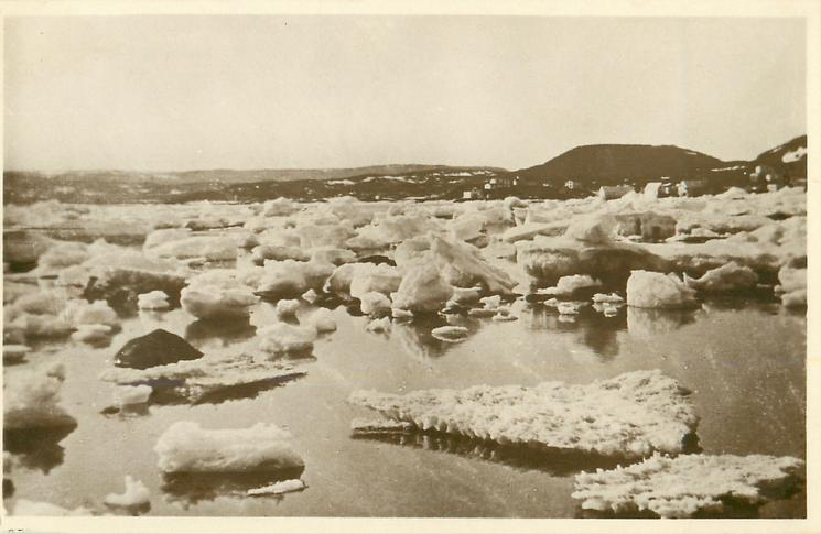 HARBOUR ICE. ONE OF THE BEAUTIFUL SIGHTS OF THE NORTH