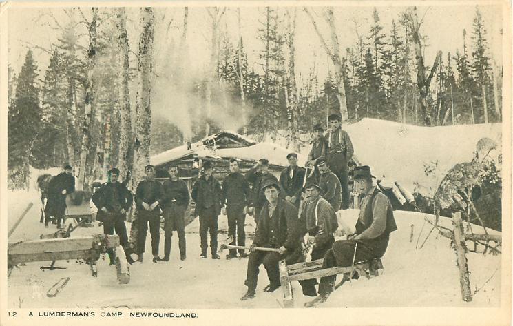 A LUMBERMAN'S CAMP