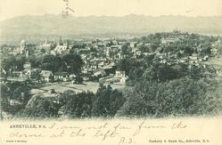 ASHEVILLE, N.C.  birds-eye view