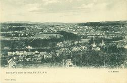 BIRD'S - EYE VIEW OF FRANKLIN, N.H