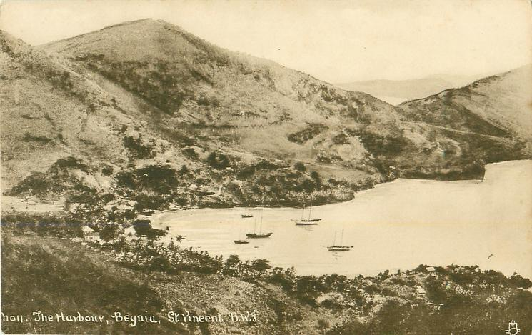 A VISIT OF H.M. SHIPS TO ST. VINCENT, B.W.I many naval vessels in harbour