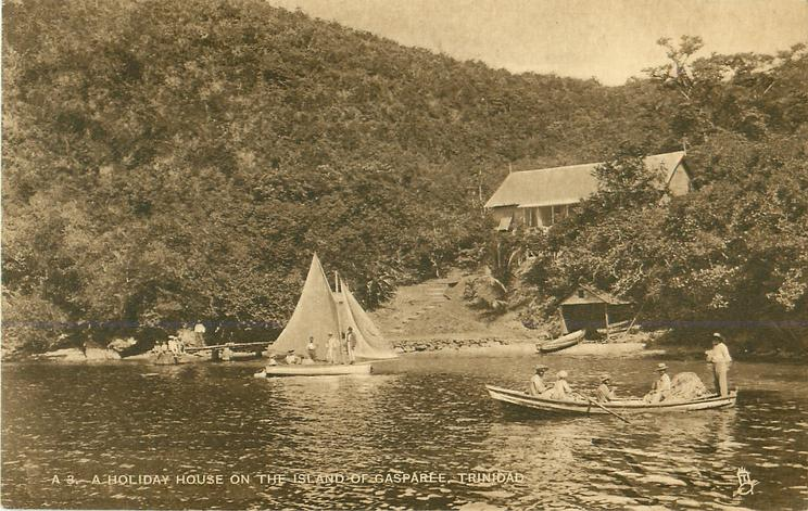 A HOLIDAY HOUSE ON THE ISLAND OF GASPAREE, TRINIDAD