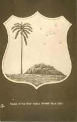 BADGE OF THE WEST INDIES CRICKET TEAM, 1923