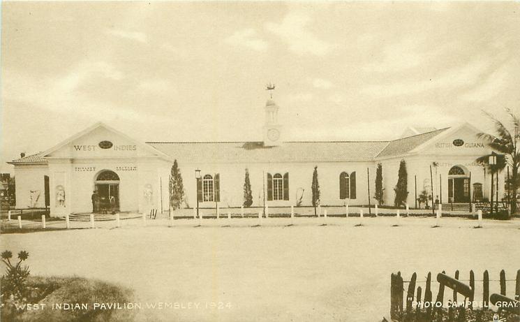 WEST INDIAN PAVILION, WEMBLEY, 1924
