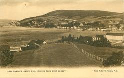 INNER HARBOUR, GASPE, P.Q., LOOKING FROM FORT RAMSAY