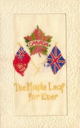 CANADA, THE MAPLE LEAF FOR EVER  Crown and Maple Leaf, Union Jack, Canadian Flag