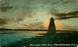 MOONLIGHT, NORTH RIVER lighthouse
