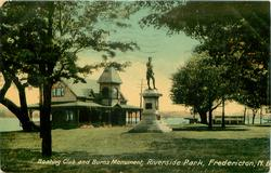 BOATING CLUB AND BURNS MONUMENT, RIVERSIDE PARK