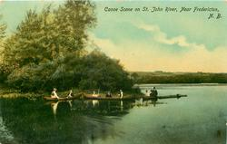 CANOE SCENE ON ST. JOHN RIVER, NEAR FREDERICTON, N.B.