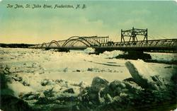 ICE JAM, ST. JOHN RIVER