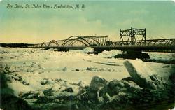 ICE JAM, ST. JOHN RIVER
