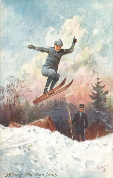 SKI-ING. THE HIGH JUMP
