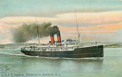 D.A.R. STEAMER, YARMOUTH HARBOR, N.S.