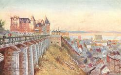 CHATEAU FRONTENAC AND LOWER QUEBEC