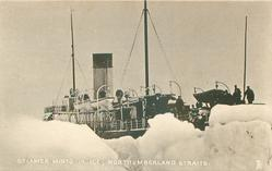 STEAMER MINTO IN ICE, NORTHUMBERLAND STRAITS