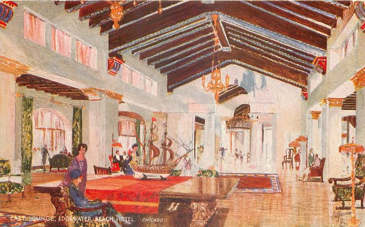 EAST LOUNGE EDGEWATER BEACH HOTEL