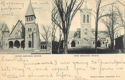 2 insets SECOND REFORMED CHURCH and FIRST REFORMED CHURCH