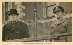 DE HEER CHURCHILL EN GENERAAL EISENHOWER